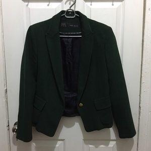 Zara Forest Green Cropped Blazer